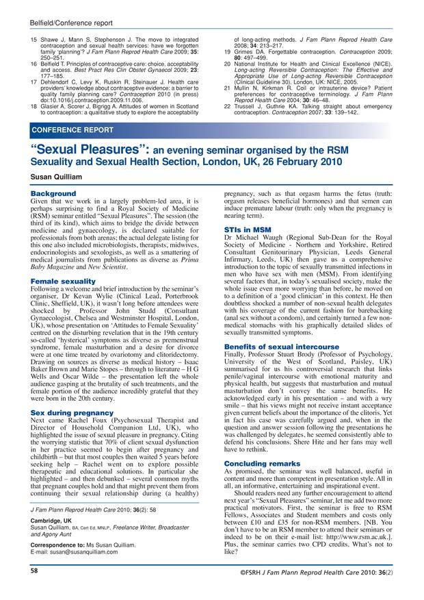 Sexual health uk statistics snapshot