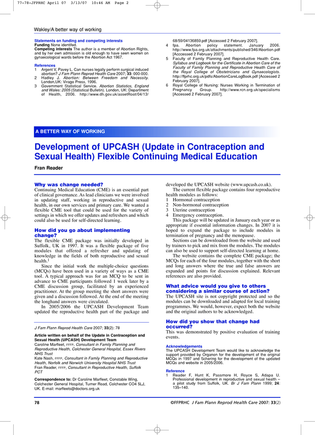 Medical education in sexual health