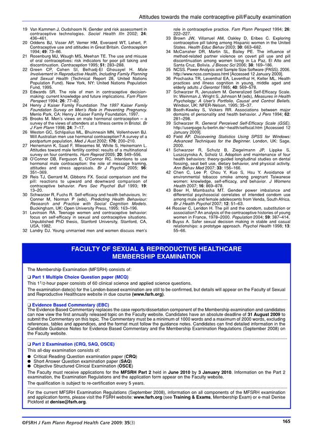 Faculty of Sexual & Reproductive Healthcare Membership Examination
