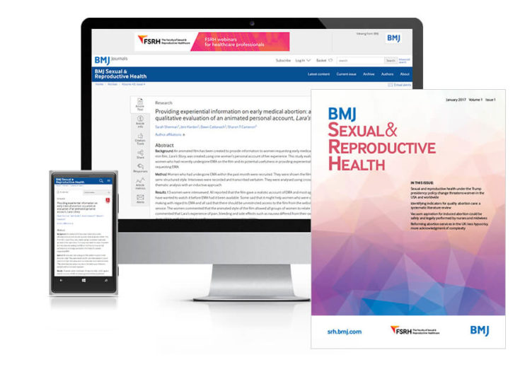 BMJ SRH Institutional subscription online and print