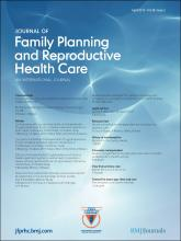 Journal of Family Planning and Reproductive Health Care: 38 (2)