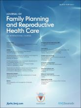 Journal of Family Planning and Reproductive Health Care: 38 (3)