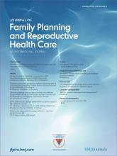 Journal of Family Planning and Reproductive Health Care: 38 (4)