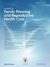 Journal of Family Planning and Reproductive Health Care: 39 (1)