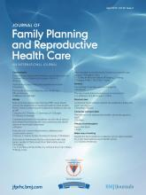 Journal of Family Planning and Reproductive Health Care: 39 (2)
