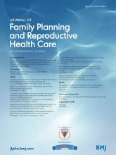 Journal of Family Planning and Reproductive Health Care: 39 (3)
