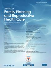 Journal of Family Planning and Reproductive Health Care: 39 (4)
