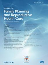 Journal of Family Planning and Reproductive Health Care: 40 (1)