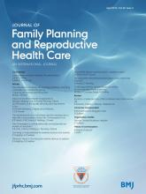 Journal of Family Planning and Reproductive Health Care: 40 (2)