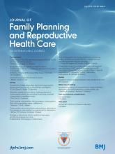 Journal of Family Planning and Reproductive Health Care: 40 (3)
