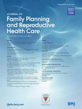 Journal of Family Planning and Reproductive Health Care: 40 (4)