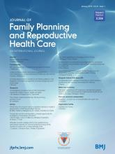 Journal of Family Planning and Reproductive Health Care: 41 (1)