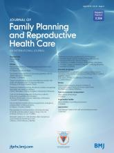 Journal of Family Planning and Reproductive Health Care: 41 (2)