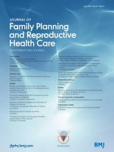 Journal of Family Planning and Reproductive Health Care: 41 (3)