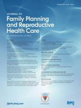 Journal of Family Planning and Reproductive Health Care: 41 (4)