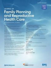 Journal of Family Planning and Reproductive Health Care: 42 (3)