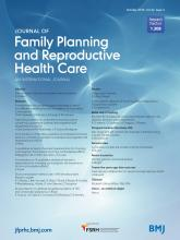 Journal of Family Planning and Reproductive Health Care: 42 (4)