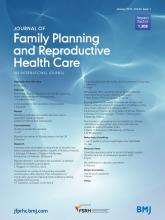 Journal of Family Planning and Reproductive Health Care: 43 (1)