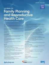 Journal of Family Planning and Reproductive Health Care: 43 (2)