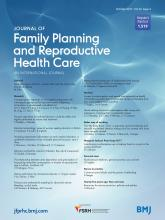 Journal of Family Planning and Reproductive Health Care: 43 (4)