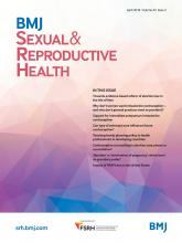 BMJ Sexual & Reproductive Health: 44 (2)