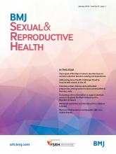 BMJ Sexual & Reproductive Health: 45 (1)