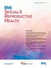 BMJ Sexual & Reproductive Health: 45 (1)