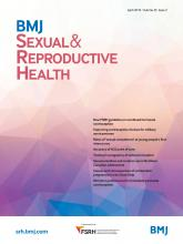 BMJ Sexual & Reproductive Health: 45 (2)