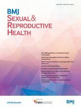 BMJ Sexual & Reproductive Health: 45 (2)