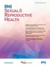 BMJ Sexual & Reproductive Health: 46 (2)