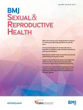 BMJ Sexual & Reproductive Health: 46 (3)