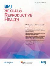 BMJ Sexual & Reproductive Health: 46 (3)