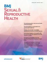 BMJ Sexual & Reproductive Health: 47 (1)