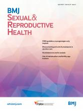 BMJ Sexual & Reproductive Health: 47 (2)