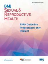 BMJ Sexual & Reproductive Health: 47 (Suppl 1)